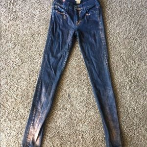 True Religion Rose Gold Denim Jeans